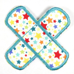 Flickli - the patch! plaster stars colorful turquoise