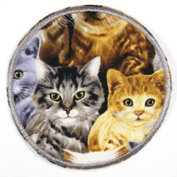 Patch around cats photorealistic, tearproof reinforced and ideal as a knee patch