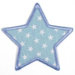 Flickli Stern Jeans blau mit weißen Sternchen