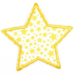 Flickli Stern mit gelben Sternchen