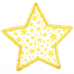 Flickli - the patch! star with yellow starlets