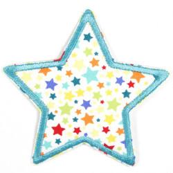 Flickli Stern mit bunten Sternchen