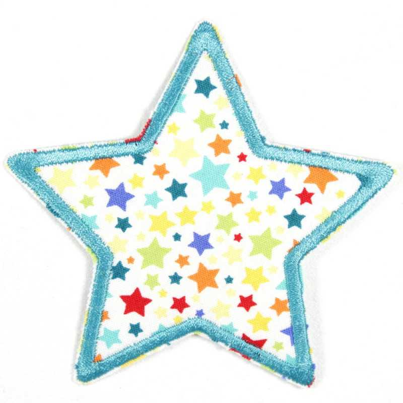 iron-on patches star with multicolor starlets