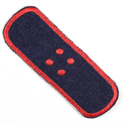 Flickli Pflaster XL Jeans blau rot