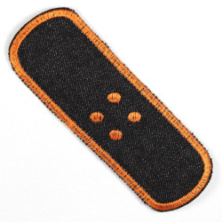 Flickli - the patch! plaster XL single black orange