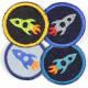 Flickli rund Raketen 4 Stück