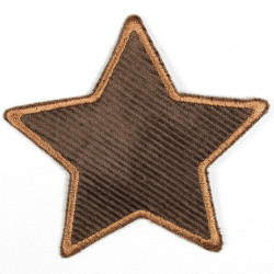 Flickli - the patch! corduroy star brown brown trim