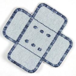 Flickli Pflaster Jeans hellblau multicolor gerade