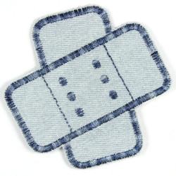 Flickli Pflaster Jeans hellblau multicolor schräg