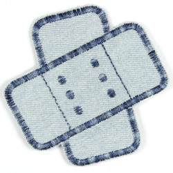 Flickli - the patch! jeans plaster patches lightblue multicolor obliquely