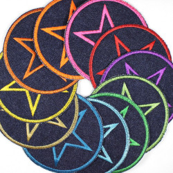Flickli - the patch! denim round with star bigpack 11 pieces
