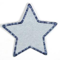 Flickli Stern Jeans hellblau multicolor blaue Umrandung