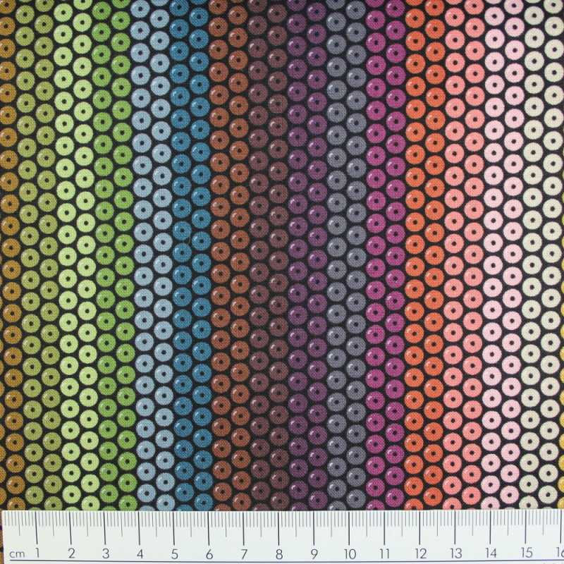 Michael Miller fabrics beadwork by mark hordyszynski dark colors