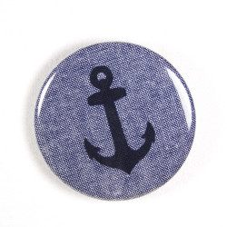 Button anchor fabric button 2.2""