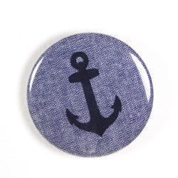 Button Anker auf grau ø 56mm