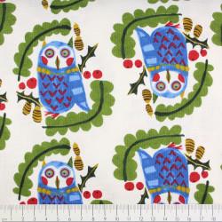 Baumwolle Eule auf weiß Kokka fabrics