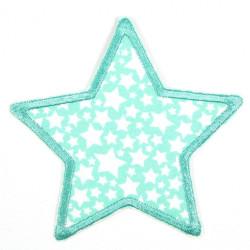 Flickli Stern türkis mit weißen Sternchen