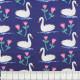 Michael Miller fabrics unicorns on purple - violet