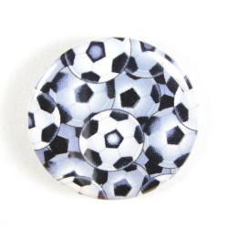 Button football fabric button pin 2.2""