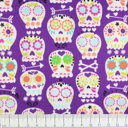 Michael Miller fabrics bone head grey