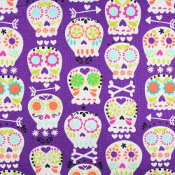 Michael Miller fabrics bone head grey