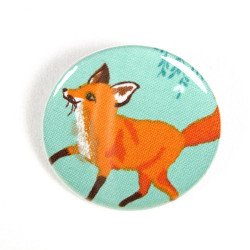 Button standing fox fabric button pin 2.2""