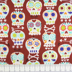 Michael Miller fabrics bone head brown