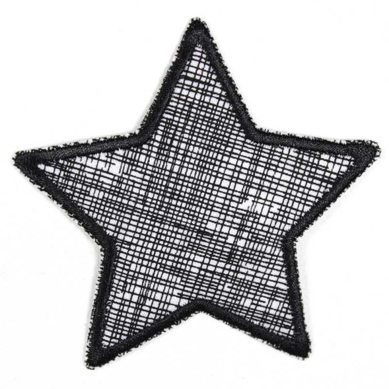 Flickli - the patch! star turquoise with white starlets