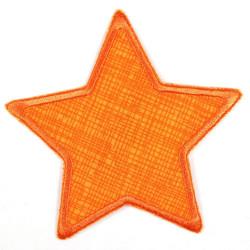 Flickli Stern Gitter mit schwarzer Schraffur auf orange orange umfaßt