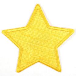 Flickli Stern Gitter mit Schraffur auf gelb gelb umfaßt