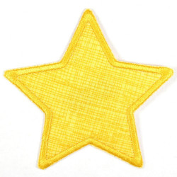 Flickli - the patch! star orange grid orange trim