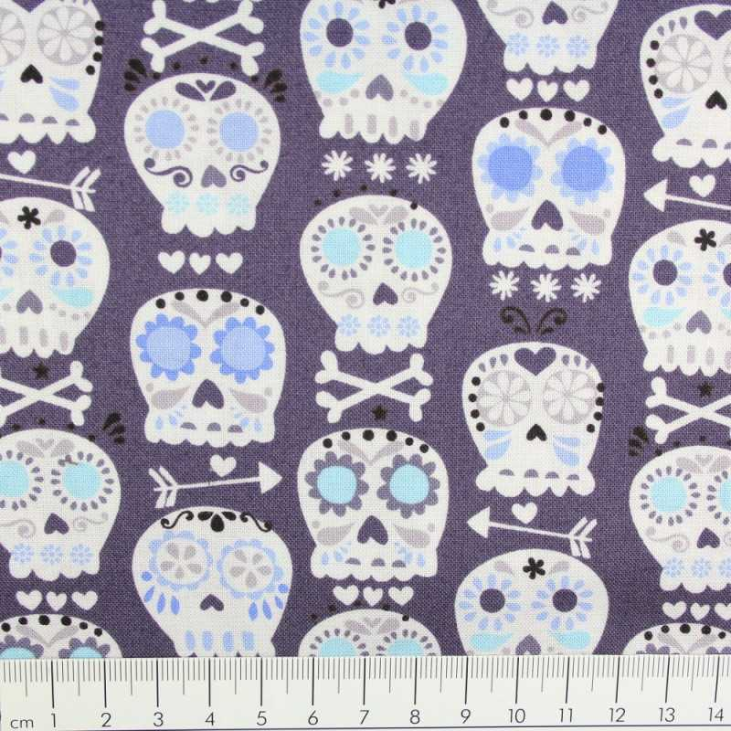Cotton fabric skull Michael Miller