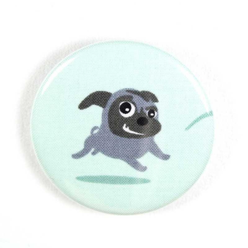 "Button standing fox fabric button pin 2.2"""