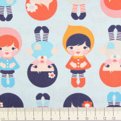 cotton fabric Ann Kelly urban zoologie minis dogs Robert Kaufmann fabrics