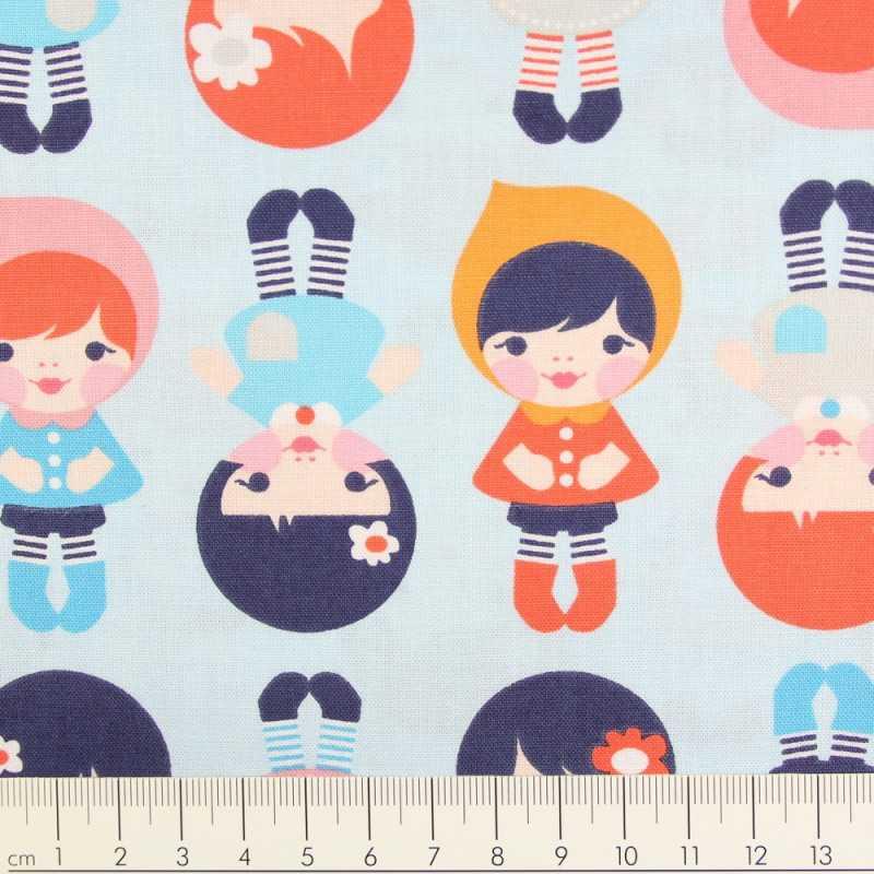 cotton fabric Ann Kelly urban zoologie minis dogs Robert Kaufmann fabrics