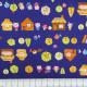 cosmo Stoffe Baumwolle 3 kleine Schweinchen blau