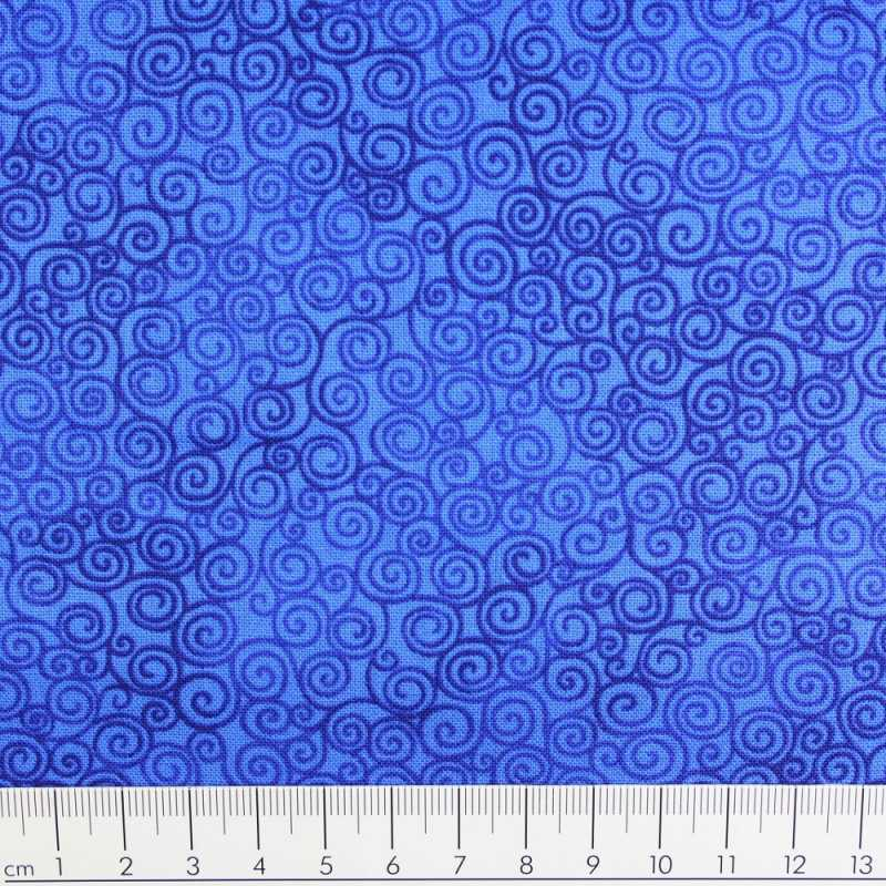 Timeless cotton fabric Jazz royal
