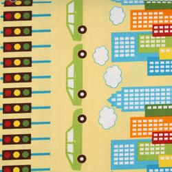 cotton fabric plug and play navy by Robert Kaufmann fabrics blue