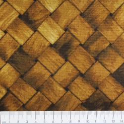 cosmo Stoffe Baumwollstoff Holzgeflecht