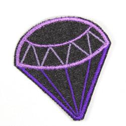 Flickli Diamant Jeans blau violet
