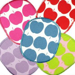Flickli - the patch! XL set retro apple pink