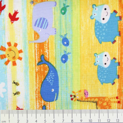 timeless treasures fabrics cotton fabric zoo animals multicolor
