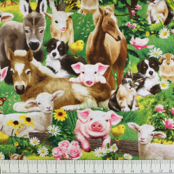 timeless treasures fabrics cotton fabric farm animals by Michael Searle