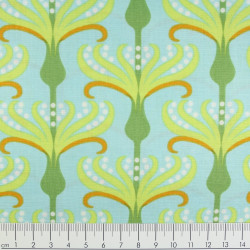 Michael Miller fabrics pirouette helens garden tamara kate aqua