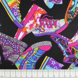 Baumwollstoff timeless treasures fabrics Turnschuhe Sneaker Stoff