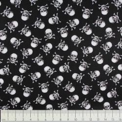 Baumwollstoff timeless treasures fabrics Totenköpfe Mini Stoff