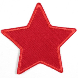 Flickli - the patch! corduroy star red red trim