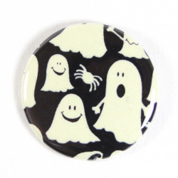 Button ghosts fabric button 2.2""