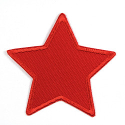 Flickli - the patch! corduroy star red