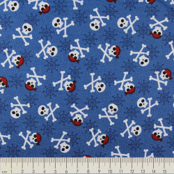 cotton fabric Andie Hanna fabulous foxes skulls black Robert Kaufmann fabrics